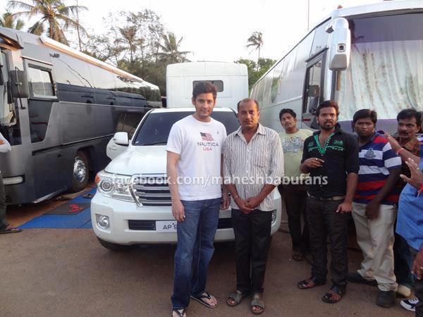 Mahesh Babu With His Tlc And Caravan Celebrity Cars India