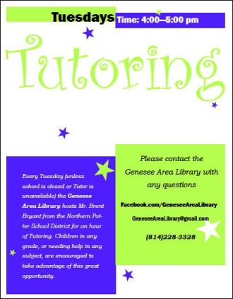 Tuesday Tutoring At Genesee Library