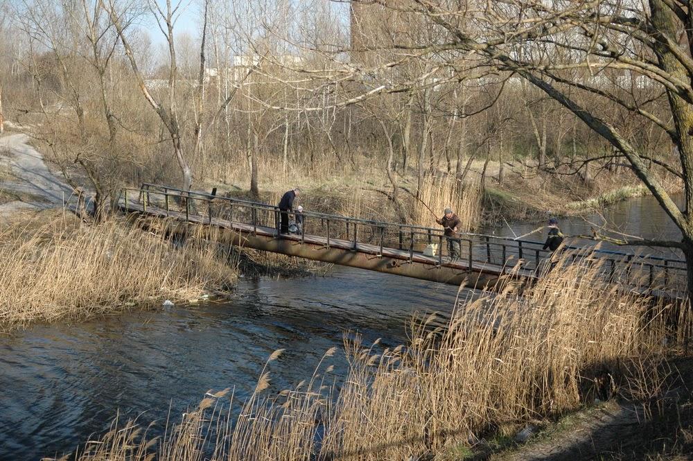 Фото Виталия Бабенко:мостик, Среднее Выгуровское озеро