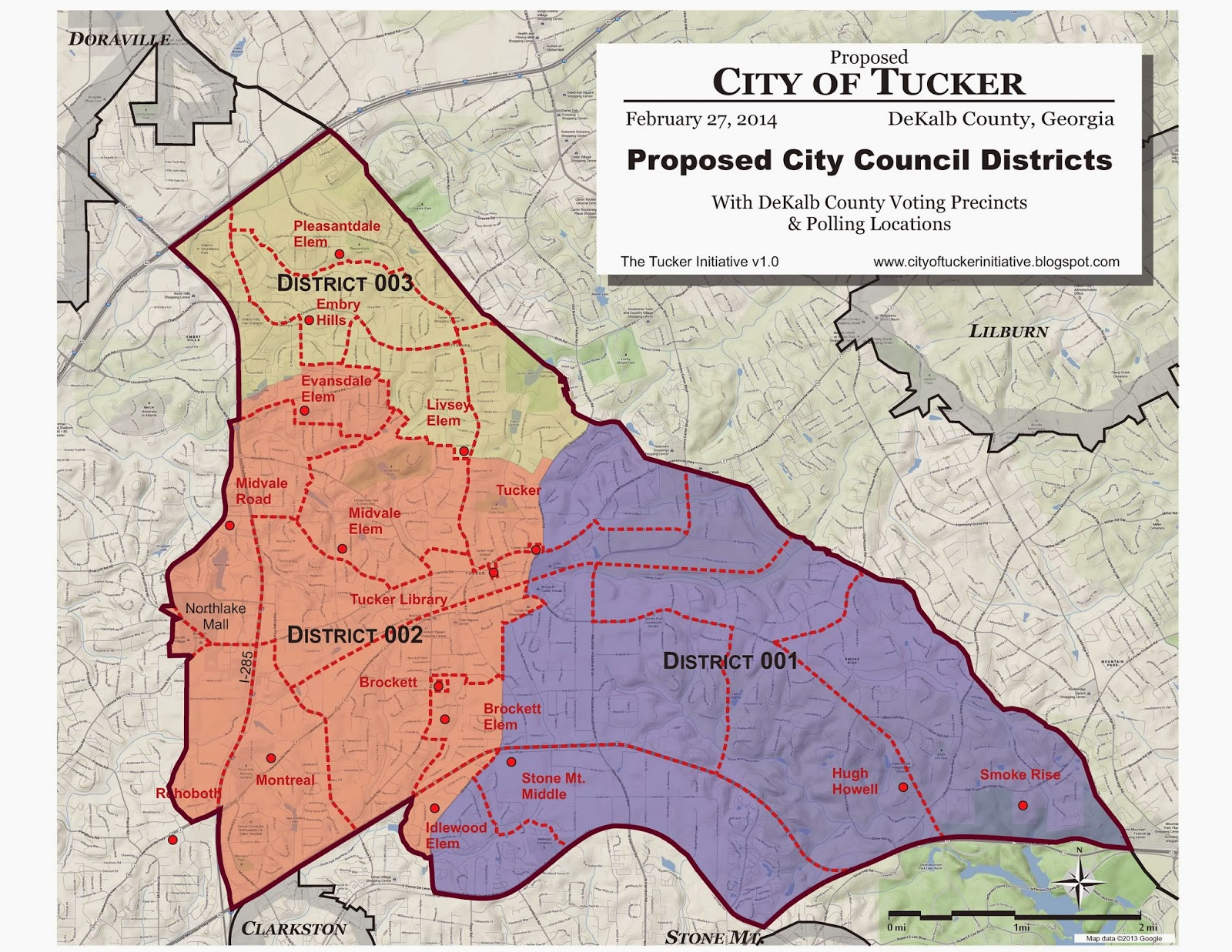 The City Of Tucker Initiative Maps - Georgia map by county and city