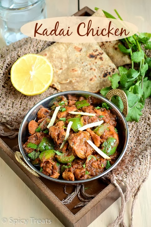 recipe: kadai chicken with capsicum recipe [23]