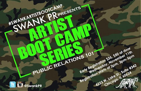 "EVENT: Swank PR Presents ""Artist Boot Camp Series- Public Relations 101"""