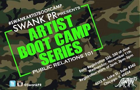 "EVENT: Swank PR Presents ""Artist Boot Camp Series- Public Relations 101"""