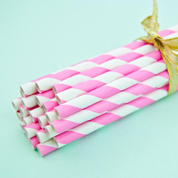 candy stripe straws