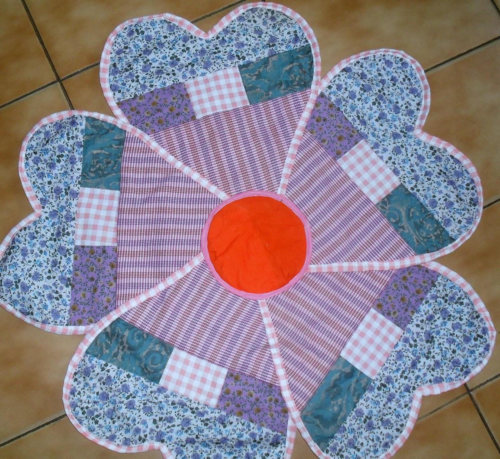 Patchwork Em Tapete De Banheiro : tapete em patchwork da Nadir – O melhor do artesanato