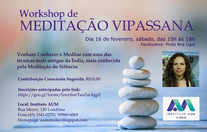WORKSHOP DE MEDITAÇÃO VIPASSANA