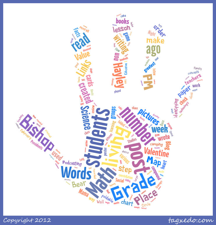 Here are two examples from tagxedo that i created by copying in the