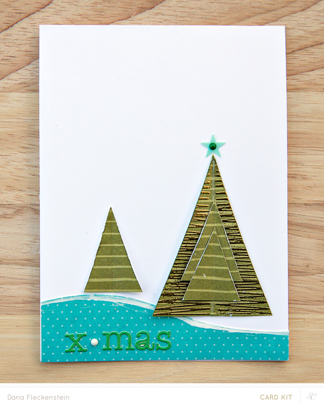 x-mas card made with Studio Calico Park Ave. card kit by @pixnglue