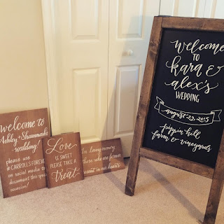 calligraphy wedding signs