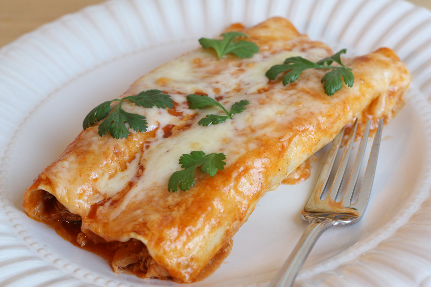 That Winsome Girl: Chicken Enchiladas