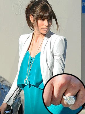 Jessica Biel Debuts Her Engagement Ring