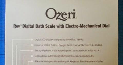 The Brick Castle The Ozeri Rev Digital Bathroom Scale Review