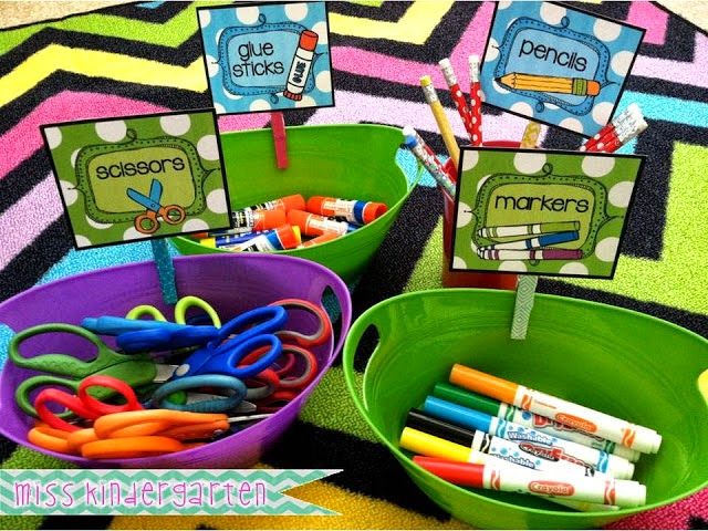 Organizing Classroom Supplies
