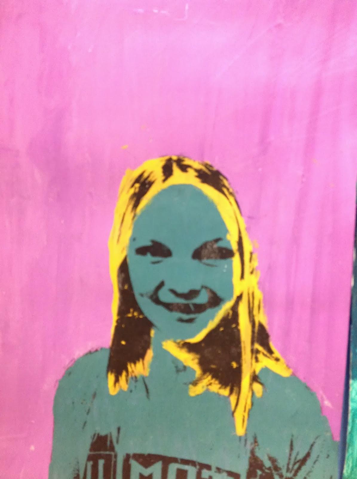6th Grade Pop Art Portrait Inspired by Warhol