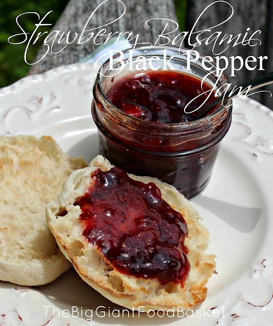 ... Big Giant Food Basket: Strawberry Balsamic & Cracked Black Pepper Jam