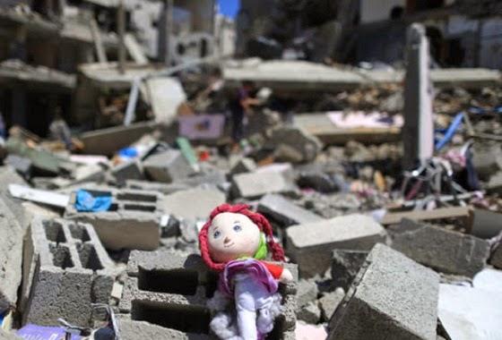 Bangunan Gaza luluh lantak