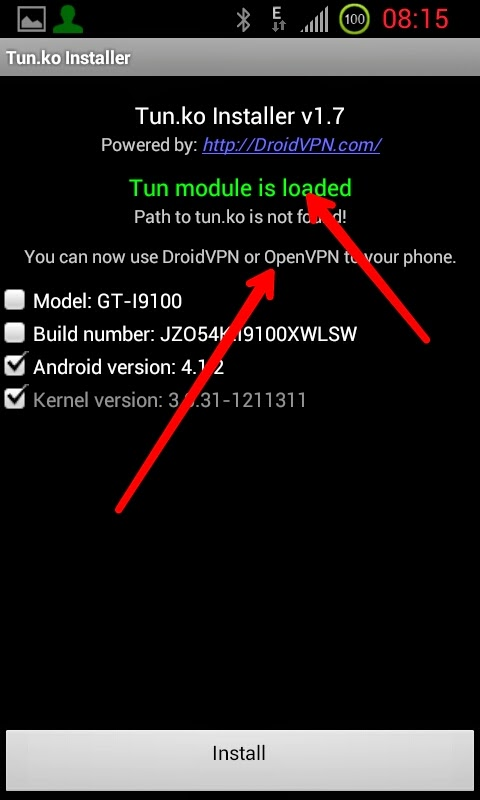 how to use droidvpn in android phone