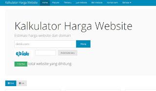 Cara Mengetahui Harga Website Atau Blog