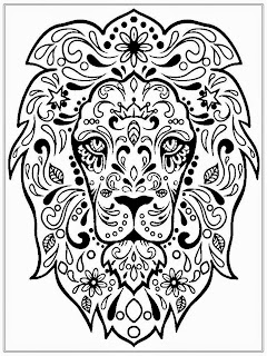 Lion Head Coloring Pages For Adult