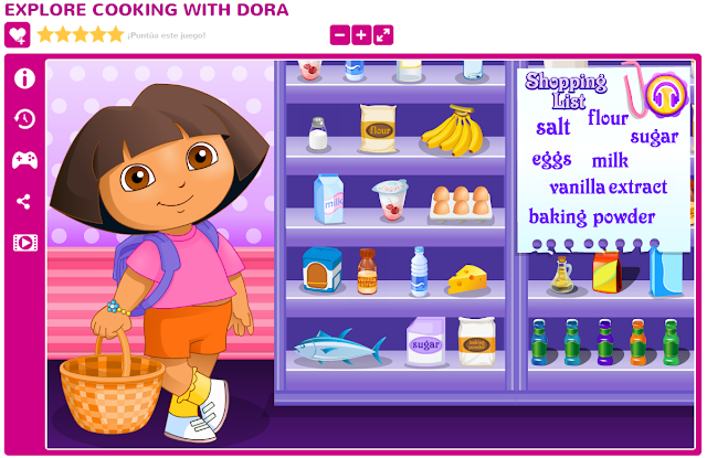 http://www.juegosdechicas.com/juego/explore-cooking-with-dora