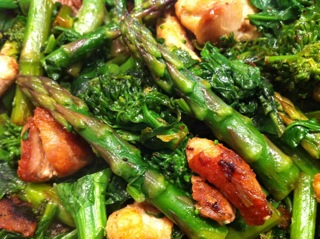 ... Belly Sisters: Green Stir Fry with Broccoli Rabe, Asparagus & Chicken