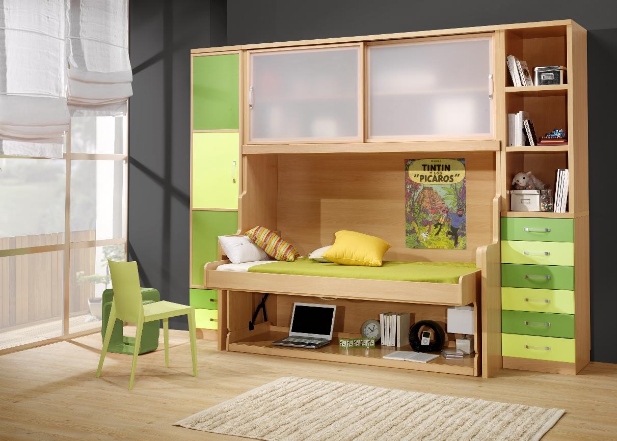 MUEBLES PARCHIS mueble cama con escritorio LIVEMARliteras