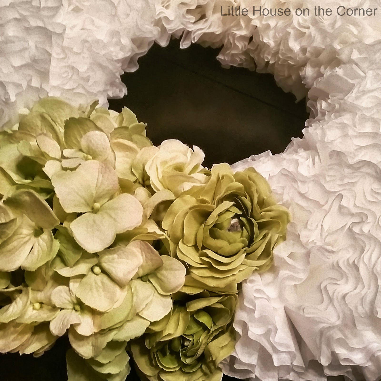 Little House On The Corner Diy Coffee Filter Floral Wreath