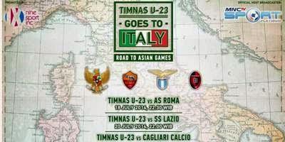 Jadwal Lengkap (Siaran TV) Pertandingan Timnas U-23 Tur Italia 2014: Goes to Italy