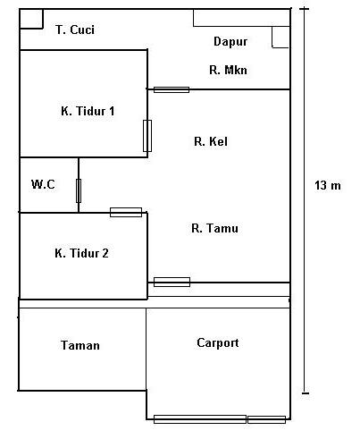 fungsi denah rumah sederhana yang mumpuni