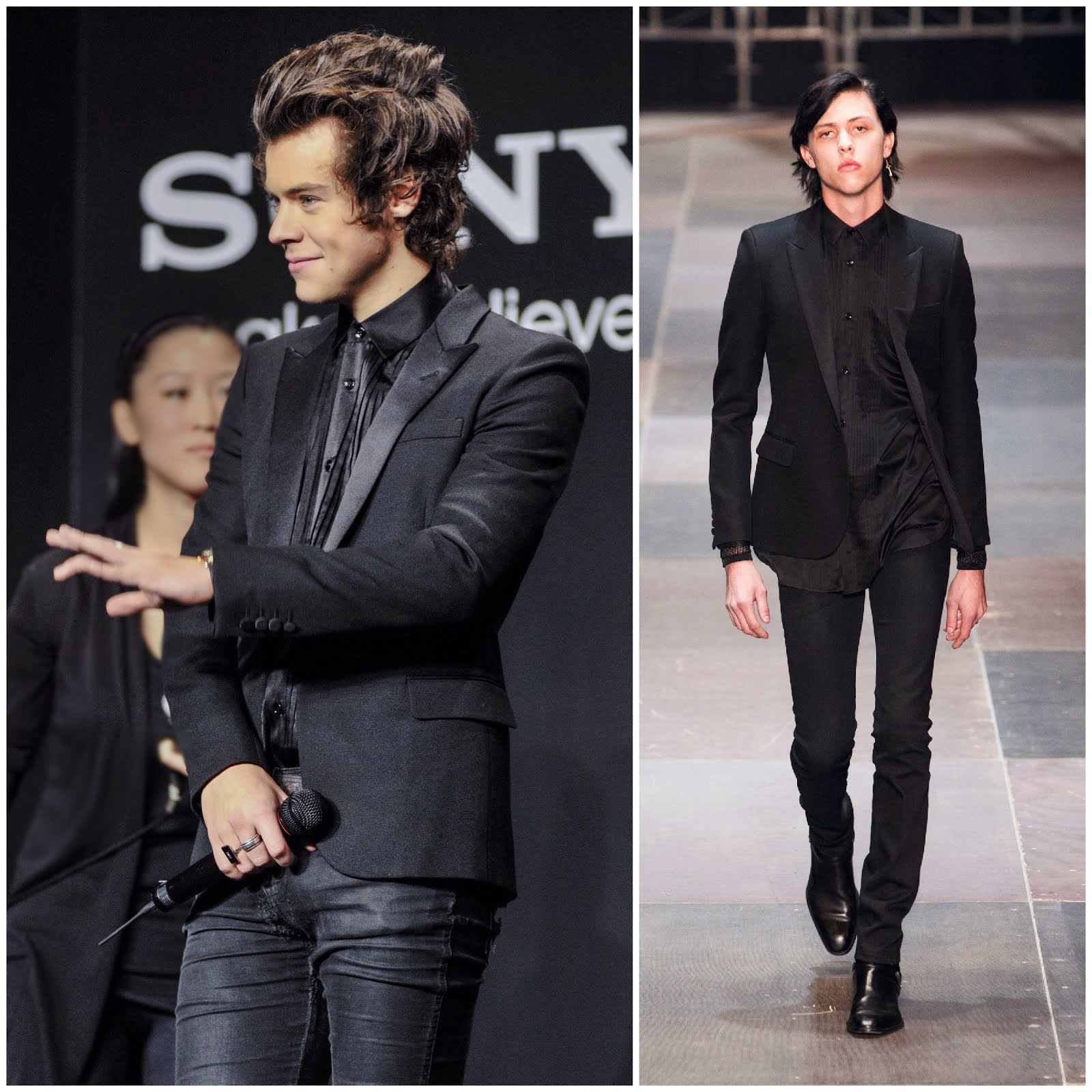 00O00 Menswear Blog: Harry Styles in Saint Laurent - 'The 1Derland: THIS IS US' promotion, Japan
