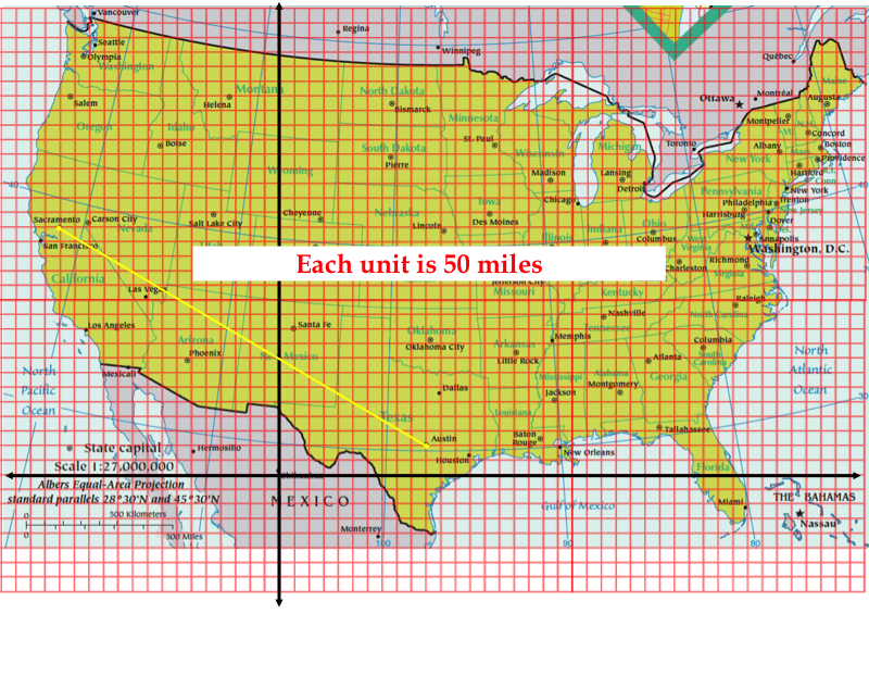 Solve And Simplify How Far Is Sacramento From Austin - Us map distance