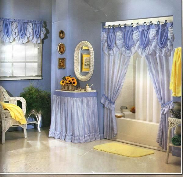Cortinas De Baño Homy:Bathroom Shower Curtain Ideas