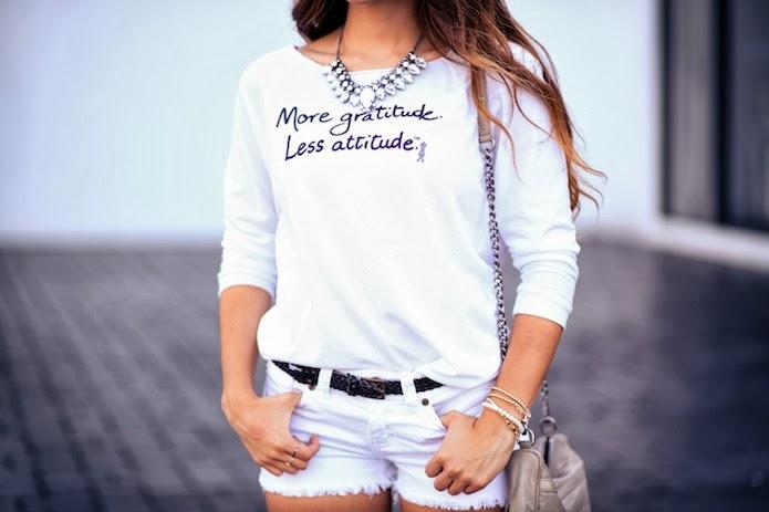 Le Motto Couture Tee styled by Daniela Ramirez of Nany's Klozet