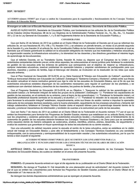 Lineamientos para la organización y funcionamiento de los Consejos Técnicos Escolares