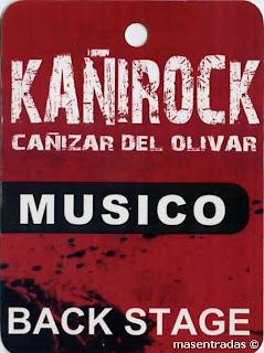 pase backstage festival kañirock