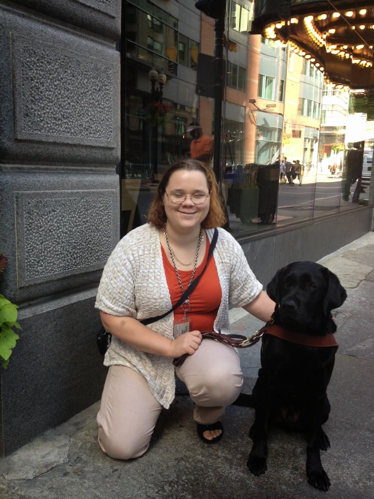 Katie Crocker and her black Lab Jetty