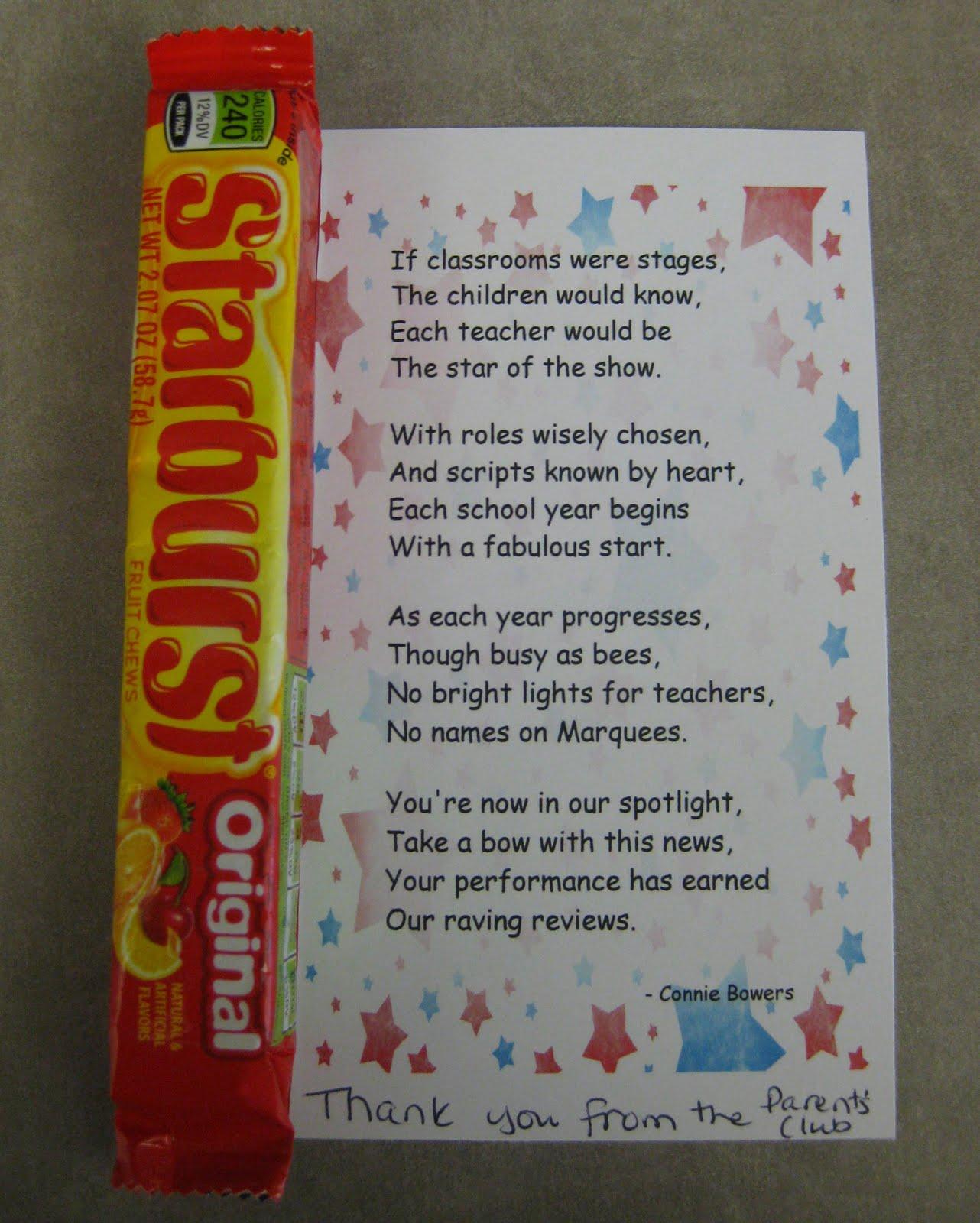 Pin Teacher Appreciation Poems On Pinterest