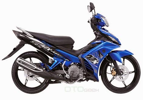 gambar motor yamaha jupiter mx biru