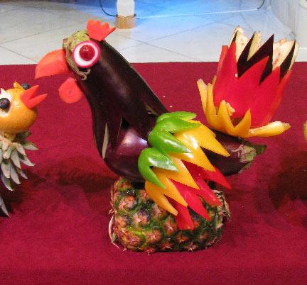 mixed media artist filipino fruit and vegetable carving. Black Bedroom Furniture Sets. Home Design Ideas