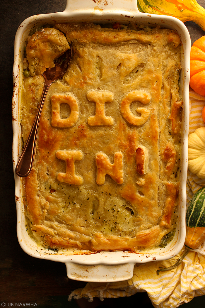 Easy Chicken Pot Pie with Puff Pastry | Club Narwhal