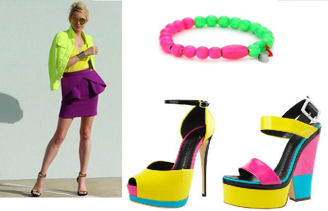 neon color block