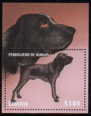 2000年リベリア共和国 ブルボネ・ポインターの切手シート
