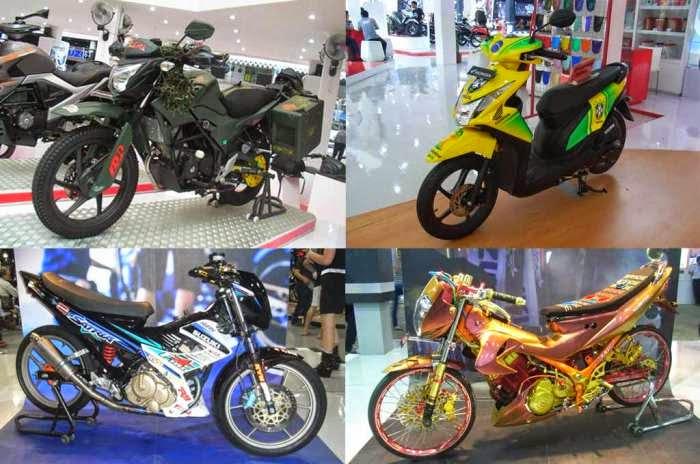 Foto Modifikasi Motor Honda dan Suzuki Terbaru 2014 Keren Jakarta