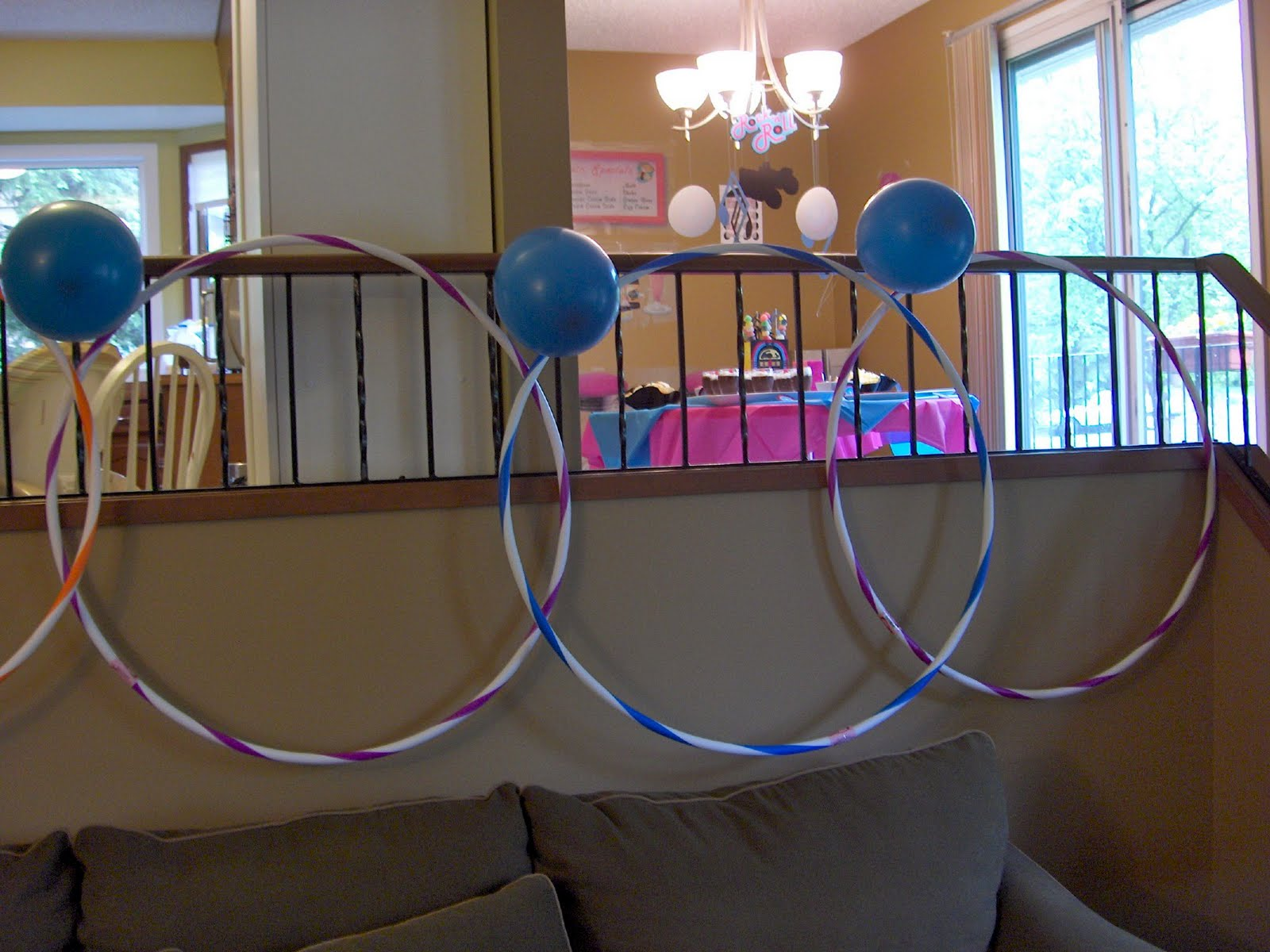 Rhapsody of cacophony sock hop party part 1 for Hula hoop decorations