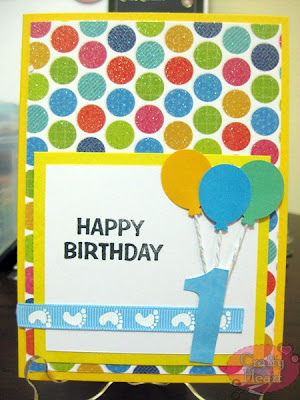 Handmade Card - Happy 1st Birthday