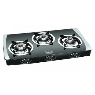 Buy Padmini 3 Burner Gas Stove Cs-3gt Crystal Black Rs.2499 only (offer price)