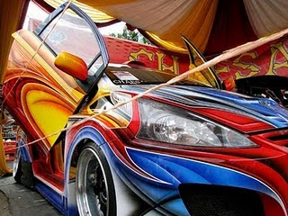 Toyota Yaris With Airbrush