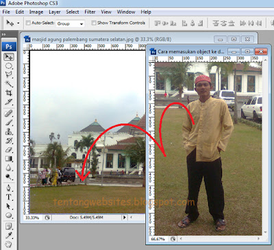 cara memasukkan object dengan photoshop