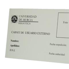 tipos de carné en la biblioteca universitaria de Murcia
