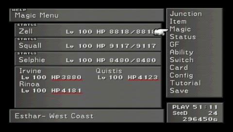 Final Fantasy VIII, All Characters Level 100